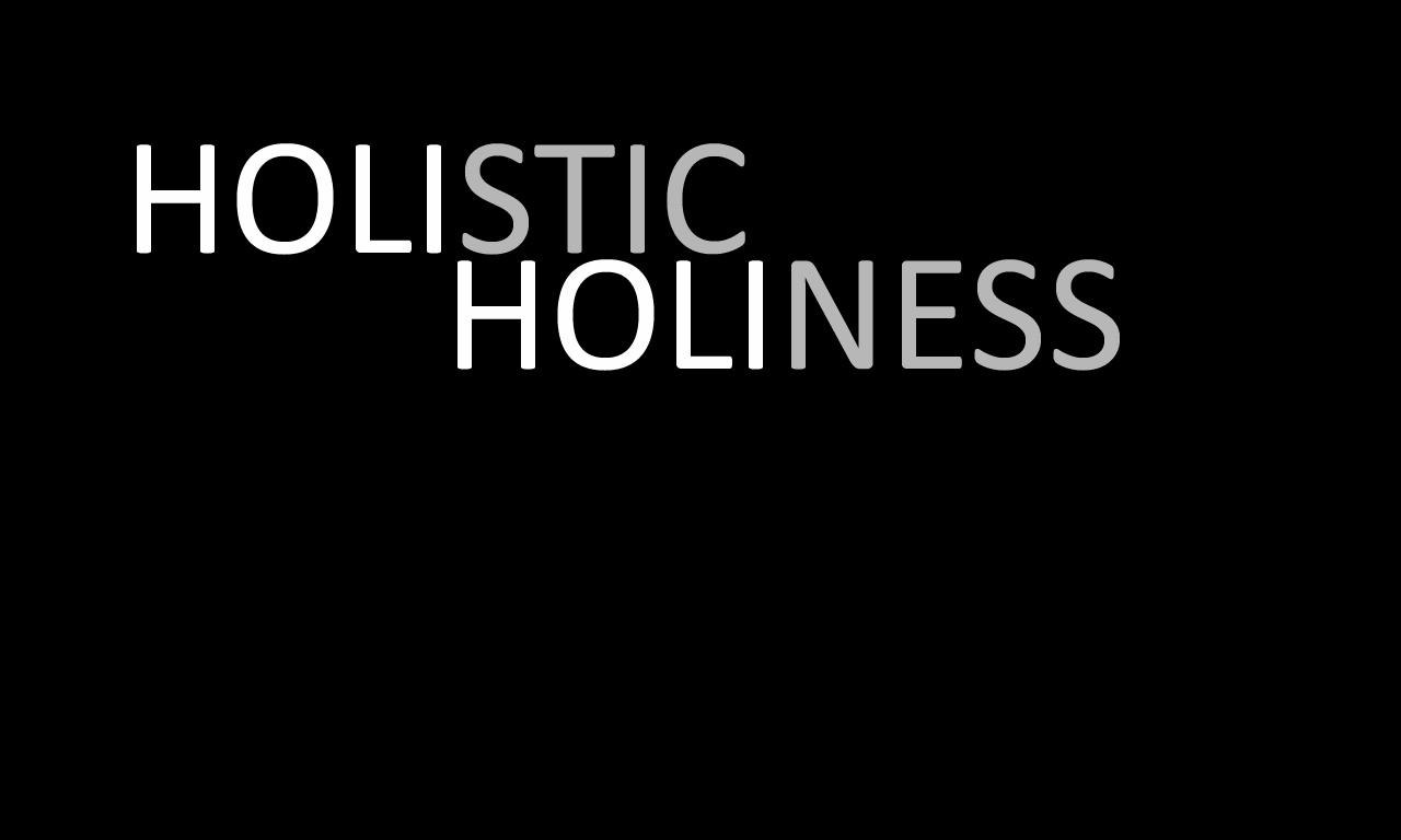 Holistic Holiness 1